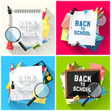 Back to school backgrounds Stock Photos