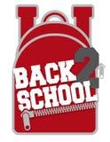 Back to School Backpack logo design. Back to School Backpack logo artwork design with collegiate font for students and sales vector illustration