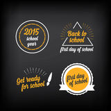 Back to school, badges design elements.Vector with graphic. Royalty Free Stock Photography