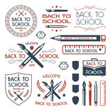Back to school badges set Royalty Free Stock Images