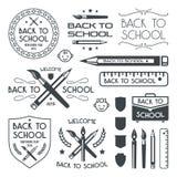 Back to school badges set Royalty Free Stock Photo