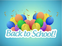 Back to school and balloons illustration design Royalty Free Stock Photography