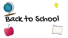 Back to School banner with animated supplies