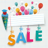 Back to School Banner Balloon Sale Stock Photography