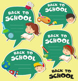 Back to school banner design Stock Photos