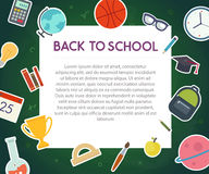 Back to school banner Stock Photo