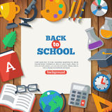 Back To School Banner With Flat Icon Set with Long Royalty Free Stock Photo