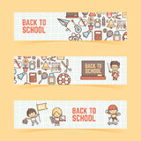 Back to school banner Stock Photos