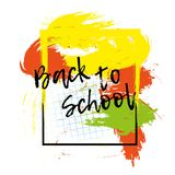 Back to school banner or poster. Abstract background with cell. Stock Photos