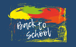 Back to school banner or poster. Abstract background with cell. Royalty Free Stock Photography