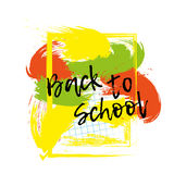 Back to school banner or poster. Abstract background with cell. Stock Image