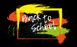 Back to school banner or poster. Abstract background with cell. Royalty Free Stock Images
