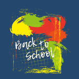 Back to school banner or poster. Abstract background with cell. Stock Images