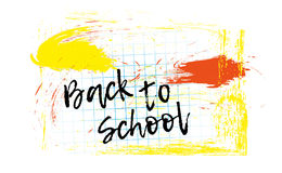 Back to school banner or poster. Abstract background with cell. Royalty Free Stock Image