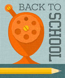 Back to school banner poster design with vintage pencil sharpener stock illustration