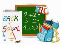 Back to school banner. Sign, Schoolbag, Study icon,vector Royalty Free Stock Image