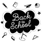 Back to school banner with stationary and learning Royalty Free Stock Images