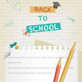Back to school banner Royalty Free Stock Image