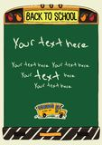 Back to school banner template Royalty Free Stock Photos