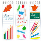 Back to school banner Royalty Free Stock Photo