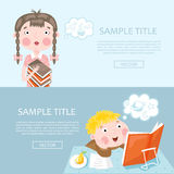 Back to school banner vector illustration Stock Image