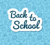 Back to school banner Stock Images