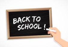 Back to school - chalk and blackboard vector illustration