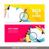 Back to school banners Stock Photography