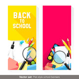Back to school banners Stock Image