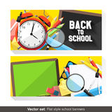 Back to school banners Royalty Free Stock Photo