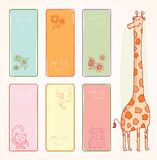 Back to school, Banners and Bookmarks, vector illustration.  Royalty Free Stock Photos