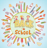 Back to school, Banners and Bookmarks, vector illustration Royalty Free Stock Photography