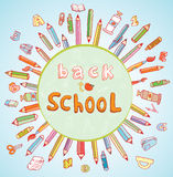 Back to school, Banners and Bookmarks, vector illustration.  Stock Image