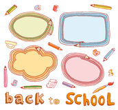 Back to school, Banners and Bookmarks, vector illustration.  Royalty Free Stock Image