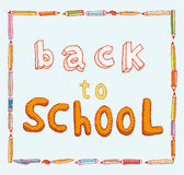 Back to school, Banners and Bookmarks, vector illustration Royalty Free Stock Photos