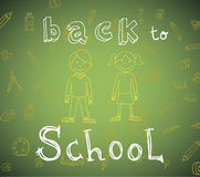 Back to school, Banners and Bookmarks, vector illustration.  Stock Photography