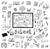 Back to school, Banners and Bookmarks, vector illustration Stock Photography
