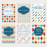 Back to school banners. Royalty Free Stock Image