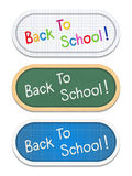 Back To School Banners Royalty Free Stock Photography
