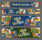 Back to School banners Stock Photos