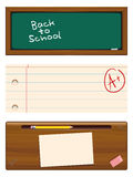 Back To School Banners. An set of banner illustrations promoting the Back to School season Stock Photos