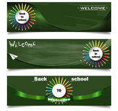 Back to school banners royalty free illustration