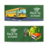 Back To School Banners Set Royalty Free Stock Photos