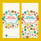 Back to school banners set Royalty Free Stock Image