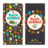 Back to school banners set Royalty Free Stock Photo