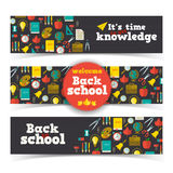 Back to school banners set Stock Photos