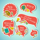 Back to school banners set Royalty Free Stock Photography