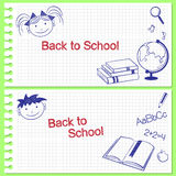 Back to school banners Stock Images