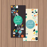 Back to school banners. Stock Images
