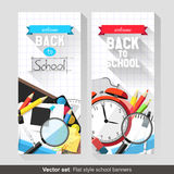 Back to school banners Royalty Free Stock Images